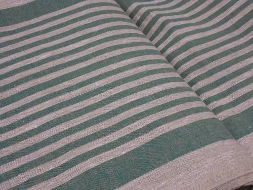 Linane kangas 10C492 / OBR1732 1/22 (roheline); Laius: 50 cm; Kaal: 310 gr/m²; Koostis: 100% linane;
