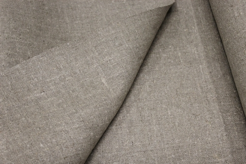 Linen burlap fabric / hessian; 4C81 K; Width: 100 cm; Weight: 430 gr/m²; Material: 100% linen; Color: natural; Washed;