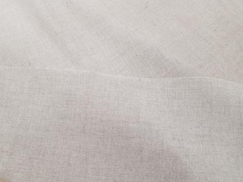 Полульняная ткань 02C3 / OBR1012; Ширина: 150 см; Вес: 210 г/м²; Состав: 58% лен, 42% хлопок; Цвет: натуральный;