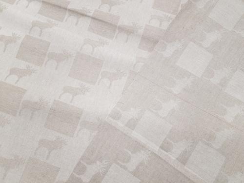 Полульняная ткань 18C14 680/330; Ширина: 211 см; Вес: 215 г/м²; Состав: 54% лен, 46% хлопок;