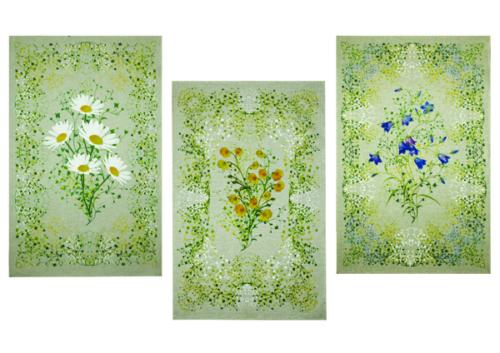 Poollinane käterätik 17C337 Põllulilled – 50x70 – värv 1, pilt 138 – 40% lina, 60% puuvill   10,00 €