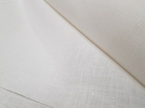Linen fabric 09C52 / OBR1542; Width: 150 cm; Weight: 245 gr/m²; Material: 100% linen; Color: natural white