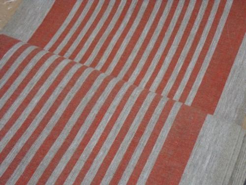 Linen fabric 10C492 / OBR1732 1/23 (red); Width: 50 cm; Weight: 310 gr/m²; Material: 100% linen fabric;  | 2,73 €/m