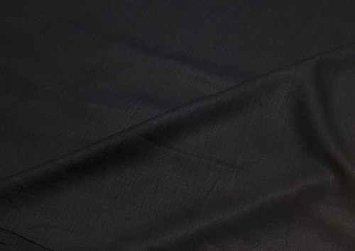 Linen fabric 4C33 / OBR491 MXY color 147 black; Width: 150 cm; Weight: 185 gr/m²; Material: 100% linen; Softened linen fabric.