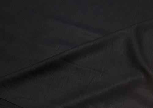 Linen fabric 4C33 / OBR491 MXY color 147 black; Width: 150 cm; Weight: 185 gr/m²; Material: 100% linen; Softened linen fabric.  | 6,44 €/m