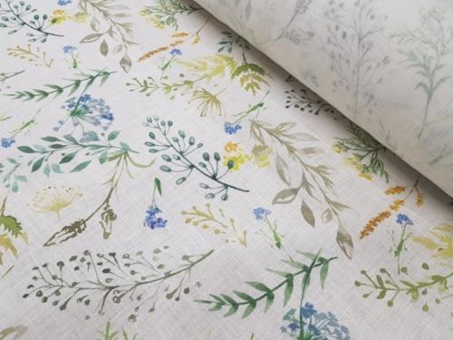 Linen fabric 4C33 / OBR491 MXY 438/1; Width: 150 cm; Weight: 185 gr/m²; Material: 100% linen; Softened linen fabric.