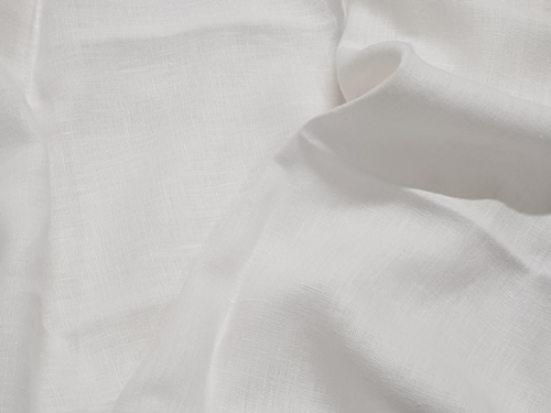 Linen fabric 09C52 / OBR1542 OW; Width: 145 cm; Weight: 245 gr/m²; Material: 100% linen; Color: optical white; Softened linen fabric (stonewash);  | 6,05 €/m