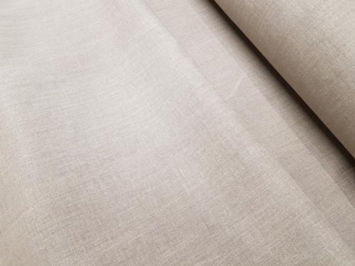Linane kangas 8C215 / OBR789 MXY; Laius: 150 cm; Kaal: 215 gr/m²; Koostis: 100% linane; Värv: naturaalne; Pehmendatud linane kangas.