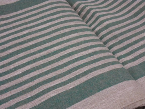 Linen fabric 10C492 / OBR1732 1/22 (green); Width: 50 cm; Weight: 310 gr/m²; Material: 100% linen fabric;  | 2,73 €/m