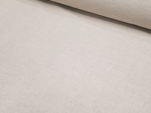 Semi-linen fabric 02C3 / OBR1012 MXY; Width: 150 cm; Weight: 210 gr/m²; Material: 58% linen, 42% cotton; Color: natural;