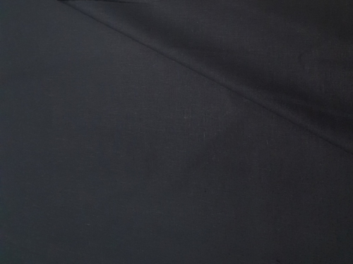 Poollinane kangas 19C33 MXY 147 must; Laius: 155 cm; Kaal: 190 gr/m²; Koostis: 51% linane, 49% puuvillane; Pehmendatud poollinane kangas. | 6,39 €/m